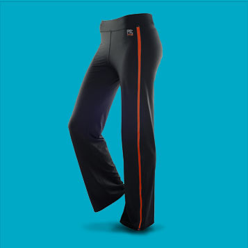 Pantalon de sport FITme filet rouge